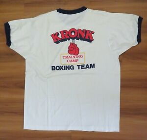 (LOT 2) KRONK Boxing Team ORIGINAL 1980's-1990's DETROIT Sz XXL & M T-SHIRTS New
