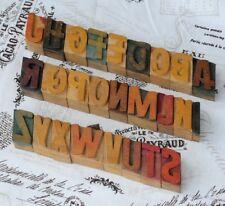 A-Z MIX Alphabet Holzletter Plakatschrift Lettern characters printers wood type