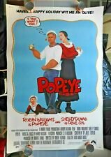 """1980 Robin WIlliams as """"POPEYE"""" 40 x 60"""" Movie Poster Shelley Duvall Ray Walston"""