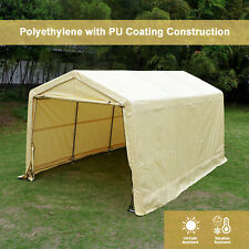 10'X15'X8'FT Storage Shed Tent Shelter Auto Canopy Carport Garage Portable Cover