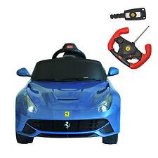 Ferrari F12 Kids Ride On Car Electric Remote Control Riding Toy w/ MP3 RC Blue