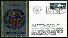 "1972 - Apollo 16 -  Busta Commemorativa ""Kennedy Space Center 16 April 72"""