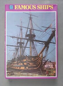 FAMOUS SHIPS H.M.S. VICTORY -  600 PIECE JIGSAW PUZZLE (COMPLETE)