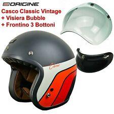 ORIGINE Jet Primo Classic Casco Moto - Nero Opaco, Taglia M