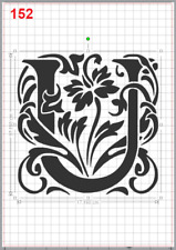 Beautiful Alphabet Letter U Stencil MYLAR A4 sheet strong resuable Craft ArtDeco
