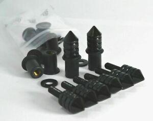 Spike Windscreen Bolt Kit- Black Aluminum Bolts, Screws, Washers, Well Nuts.