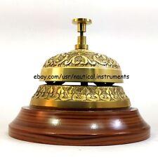 Vintage Brass Reception Desk Service Bell - Butler Call - Ringer - Office Bell