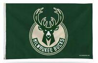 Milwaukee Bucks 3x5 Banner Flag Green Basketball NBA Grommets Giannis New