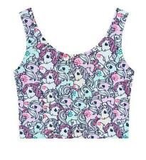 Woman Crop Top Cute Little Pony printed Sleeveless Crop Vest Free Size Crop Tank