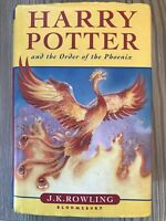 VINTAGE HARRY POTTERY AND THE ORDER OF THE PHOENIX ROWLING FIRST EDITION BOOK