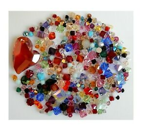 25 Grams Assorted Crystal Swarovski® crystals Bicones Cubes Flowers More! Beads