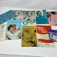 Vintage 1950s Baby Care Booklet Lot Infant Care Ephemera How To Mixed 10 Piece