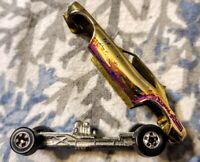 Vintage Hot Wheels Top Eliminator, Gold, 1977 Mainline, BW, Loose, Hemi Hauler
