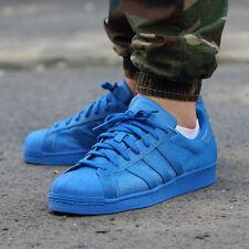Men's Adidas Originals Superstar Trainers Blue UK 9