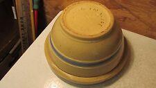 Antique Oven Ware Stoneware Bowl- Blue Bands
