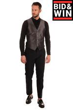 Waistcoat Size 48 / M Fully Lined Split Hem Single Breasted V-Neck