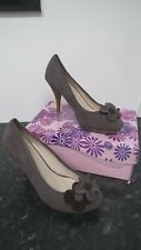 Taupe Suede Effect Floral Detail Court Shoes  from Azalea size 4