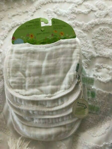 green sprouts® 5-Pack Organic Muslin Size 0-12 Months Burp Bibs