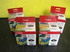 Lot of 4 New Genuine Canon BJ Color Cartridge Photo BC-62e NIP