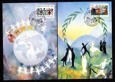 UNO Wien 75/6 Maximumkarten Tag der Vereinten Nationen