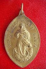 RARE ANTIQUE BRONZE IMMACULATE CONCEPTION BEAUTIFULLY DETAILED OLD MEDAL PENDANT