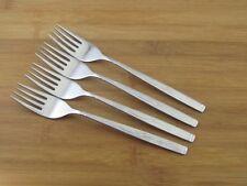 """4 Oneida Vanessa Dinner Forks 7 1/4"""" Deluxe Stainless Flatware Silverware"""