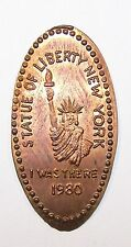 Elongated Penny Cent STATUE OF LIBERTY NEW YORK I WAS THERE 1980