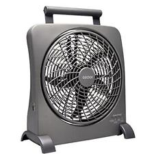 O2COOL 10 Inch Portable Smart Power Fan with AC Adapter & USB Charging Port