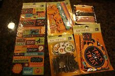 NIP K & Company halloween die cuts, layered accent, adhesive border, paper ribon