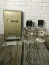 Giorgio Armani, Armani Eau Pour Homme 2x Miniature Bottle 1x Box 7ml EDT Splash