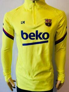 Training top Barcelona 2020-21 Yellow Player Issue kitroom Original vaporknit