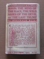 BOON: MIND OF THE RACE & LAST TRUMP by H.G. Wells - 1st/1st HCDJ 1915 - Bliss