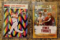 2009 Mike Trout Gold Cracked Ice Rookie Limited Edition & Trout Holographic Card