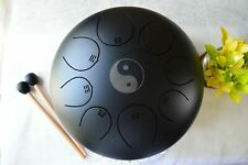 New Design ~ 12In Steel Tongue Drum Handpan Musical Meditation Drum W/Travel Bag