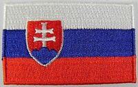 Slowakei Aufnäher gestickt,Flagge Fahne,Patch,Aufbügler,6,5cm,neu