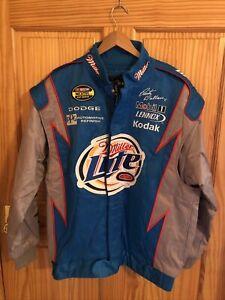NASCAR Racing Large Mens Rusty Wallace Coat Jacket Blue (NJ-287)