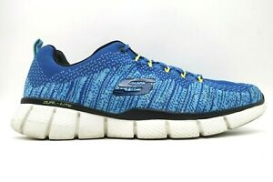 Skechers Relaxed Fit Blue Mesh Lace Up Athletic Running Shoes Men's 12