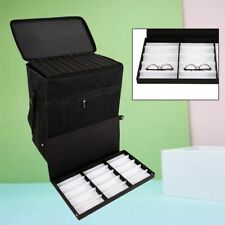 180 Slot Eyeglasses Storage Optical Frame Display Case Sample Box Travel Trolley