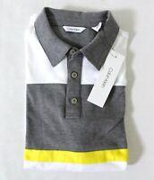 Calvin Klein Men's Modern Collegiate Long Sleeve Rugby Polo Shirt Size M White