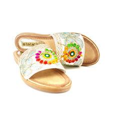 Sandal Flat Fancy Multicoloured - PC17904 White