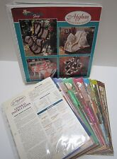 Vtg Knit Crochet Afghan Throw Blanket 164 Patterns Book Binder Needlecraft Shop