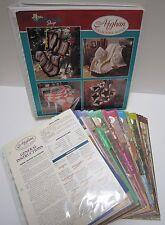 Vtg Knit Crochet Afghan Throw Blanket 164 Patterns Book Binder Needlecraft Shop