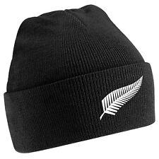 MENS/ WOMENS NEW ZEALAND BEANIE HAT  BLACK