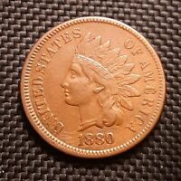 1880 Indian Head Cent/Penny - Very Fine VF