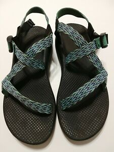 Womens Chaco sport hiking sandals sz 11M 11 green Multicolor