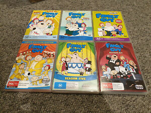 Family Guy Season 1-6 DVD Complete Set and movies bundle lot PAL great condition