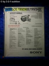 Sony Service Manual DCR TRV240E /TRV340E Level 1 Digital Video Camera (#5733)