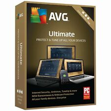 AVG 2018 ULTIMATE 1 Year Unlimited Devices Internet Security Antivirus PC TuneUp