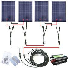 24V 400W Off Grid System KIT 4*100W Solar pannel W/ Controller & Bracket for Car