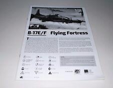 HK MODELS B-17E/F 01E05 PARTS *INSTRUCTION MANUAL* 1/32
